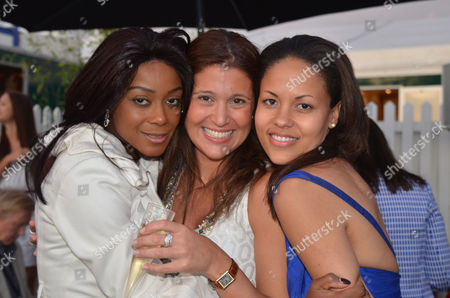 Chinawhite Afterparty at Cartier Polo at Smiths Lawn Windsor Great Park Windsor Berkshire Phoebe Vela Susan Nilsson and Rachel Barrett
