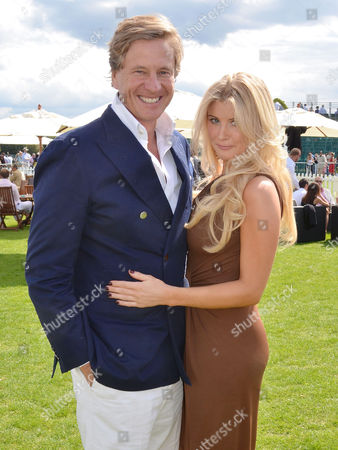 Cartier Polo at Smiths Lawn Windsor Great Park Windsor Berkshire Rob Hersov with His Girlfriend Katie James