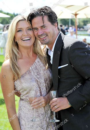 Cartier Polo at Smiths Lawn Windsor Great Park Windsor Berkshire Tina Hobley with Her Husband Oliver Wheeler