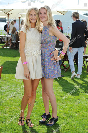 Cartier Polo at Smiths Lawn Windsor Great Park Windsor Berkshire Poppy Delevingne with Her Sister Chloe Buckworth