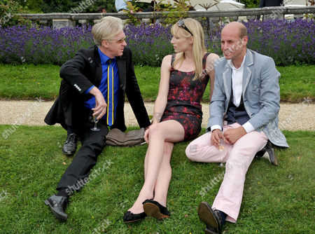 Cartier Style Et Luxe On the Lawn of Goodwood House During the Festival of Speed Philip Treacy with His Partner Stefan Bartlett and Jade Parfitt