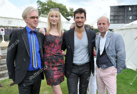 Cartier Style Et Luxe On the Lawn of Goodwood House During the Festival of Speed Philip Treacy with His Partner Stefan Bartlett (r) Jade Parfitt and David Gandy
