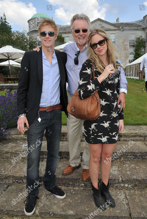 Cartier Style Et Luxe On the Lawn of Goodwood House During the Festival of Speed Roger Taylor with His Son Rufus Tiger Taylor and Daughter Rory Eleanor Taylor