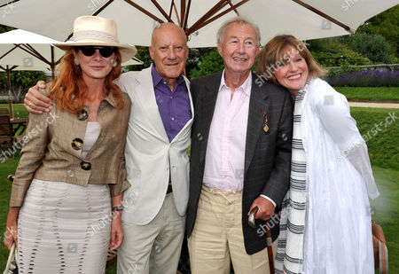 Cartier Style Et Luxe On the Lawn of Goodwood House During the Festival of Speed Lord Norman and Lady Elena Foster with Sir Terence and Lady Victoria Conran