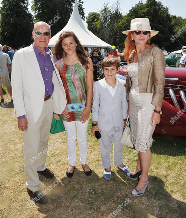 Cartier Style Et Luxe On the Lawn of Goodwood House During the Festival of Speed Lord Norman and Lady Elena Foster with Their Son and Daughter