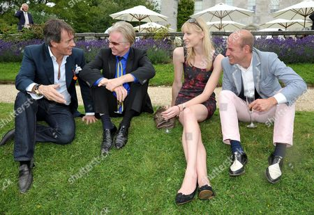 Cartier Style Et Luxe On the Lawn of Goodwood House During the Festival of Speed Tim Jefferies Philip Treacy with His Partner Stefan Bartlett and Jade Parfitt