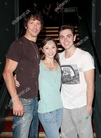 Cast Change For 'Dirty Dancing' at the Aldwych Theatre Johnny Wright (johnny) and Hannah Vassallo (baby) with Ray Quinn (billy)