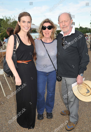 Chucs 'Take A Dip' in the Serpentine in Aid of 'Charity Water' Hosted by Chucs Dive and Mountain Shop Nicolas Roeg with His Wife Harriet Harper and Her Daughter