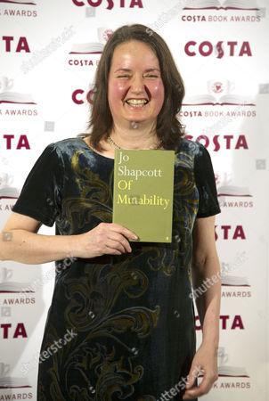 Costa Book of the Year Awards at Quaglinos Restaurant St James's Jo Shapcott Costa Poetry Award Winner and Overall Winner