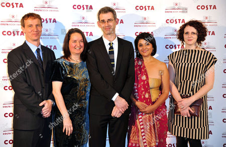 Costa Book of the Year Awards at Quaglinos Restaurant St James's Winners - Jason Wallace Jo Shapcott (overall Winner) Edmund De Wall Kishwar Desai and Maggie O'farrell