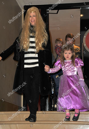 Disney's 'Tangled' Celebrity Premiere at the Mayfair Hotel Kate Garraway with Her Daughter Darcey Mary with Her Husband Derek Draper and Son William 'Billy'