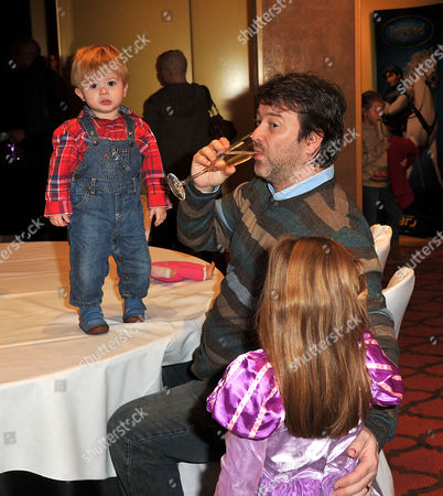 Disney's 'Tangled' Celebrity Premiere at the Mayfair Hotel Derek Draper with His Son William 'Billy' and Daughter Darcey
