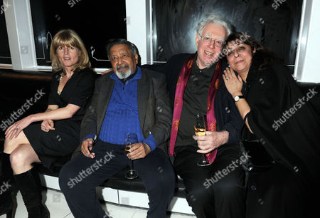 Evening Standard 1000 Most Influential People Reception at the Millbank Tower Rachel Johnson V S Naipaul with His Wife (r) and Jon Halliday