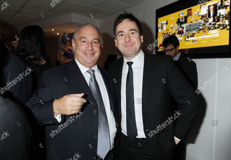 Evening Standard 1000 Most Influential People Reception at the Millbank Tower Sir Philip Green and Editor of the Sun Dominic Mohan