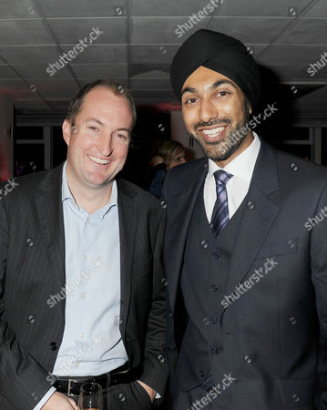Evening Standard 1000 Most Influential People Reception at the Millbank Tower Guto Harri and Kulveer Ranger (advisor For Transport)