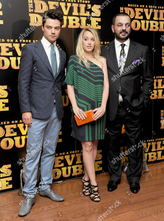 European Premiere of 'The Devil's Double' at the Vue Leicester Square Dominic Cooper and Ludivine Sagnier with Latif Yahia
