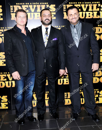 European Premiere of 'The Devil's Double' at the Vue Leicester Square Michael Fedun and Latif Yahia