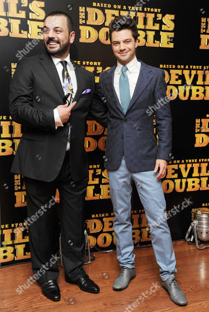 Stock Image of European Premiere of 'The Devil's Double' at the Vue Leicester Square Latif Yahia and Dominic Cooper
