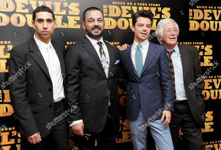 European Premiere of 'The Devil's Double' at the Vue Leicester Square Latif Yahia Dominic Cooper and Michael Thomas