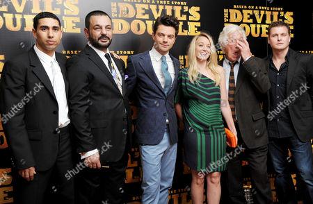 European Premiere of 'The Devil's Double' at the Vue Leicester Square Latif Yahia Dominic Cooper Ludivine Sagnier Michael Thomas and Michael Fedun
