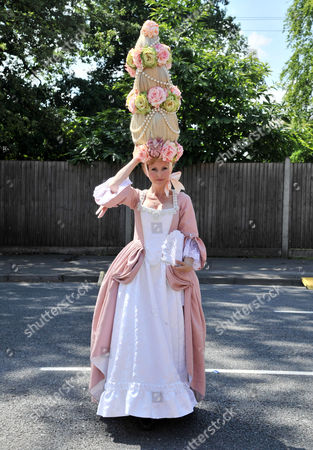 First Day of Royal Ascot Races at Ascot Racecourse Anneka Tanaka-svenska Wearing an Elaborate Louis Mariette Head-piece