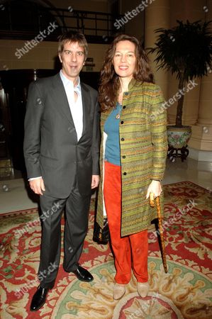 First Night Party For 'Hayfever' at the Langham Hilton Hotel Jennifer Hall with Her Husband Glen Wilhide