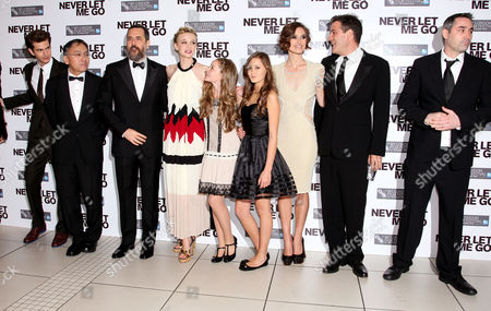 Gala Premiere For 'Never Let Me Go' On the Opening Night of the London Film Festival at the Odeon Leicester Square Cast - Andrew Garfield Kazuo Ishiguro Mark Romanek Carey Mulligan Isobel Meikie-small Ella Purnell Keira Knightley and Alex Garland