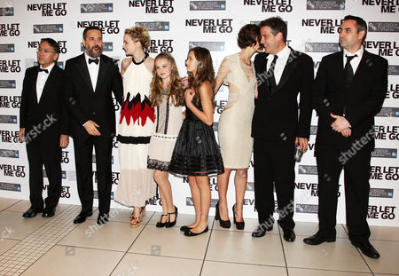 Gala Premiere For 'Never Let Me Go' On the Opening Night of the London Film Festival at the Odeon Leicester Square Cast - Kazuo Ishiguro Mark Romanek Carey Mulligan Isobel Meikie-small Ella Purnell Keira Knightley and Alex Garland