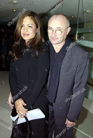 Garden Party at Nubo at the Metropolitan Hotel in Aid of Save the Children and Sponsored by Garrard 40 Guests Payed £1000 A Head For Dinner in the White Room with Tickets to the Afterparty Costing £250 Phil Collins with His Wife Orianne Cevey