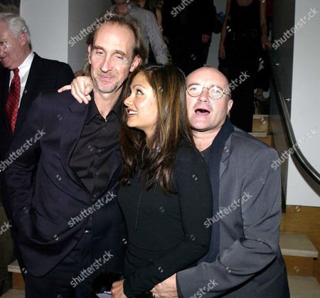 Garden Party at Nubo at the Metropolitan Hotel in Aid of Save the Children and Sponsored by Garrard 40 Guests Payed £1000 A Head For Dinner in the White Room with Tickets to the Afterparty Costing £250 Mike Rutherford Phil Collins with His Wife Orianne Cevey