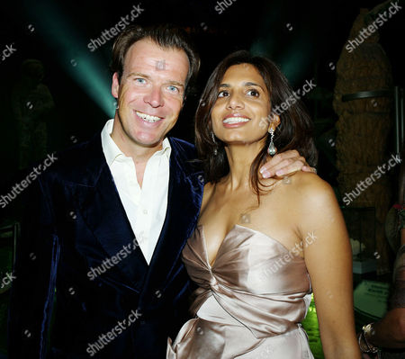 Global Party at the Natural History Museum Joel Cadbury with His Wife Divia Lalvani