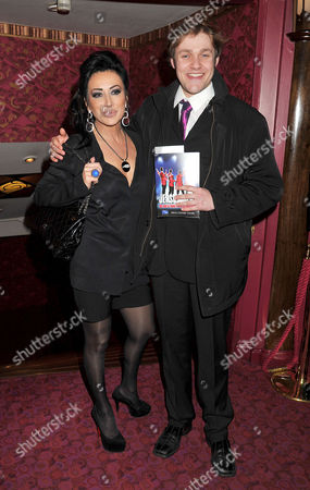 Jersey Boys Christmas Show at the Prince Edward Theatre Old Compton Street Nancy Dell'olio and Thomas Howes (downton Abbey)