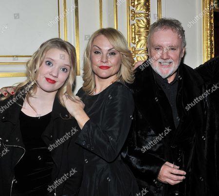 Julien Macdonald Fashion Show During London Fashion Week 2013 at Goldsmiths Hall - Roger Taylor with his wife Sarina Potgieter and daughter Lola Daisy May Leng Taylor