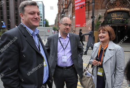 The 2010 Labour Conference at the Manchester Central Convention Complex Greater Manchester Uk Ed Balls Mp Jim Knight Mp & Tessa Jowell Mp