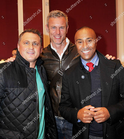 Launch of the New Isaf World Match Race Tour Championship Trophy at GarrardÂ' Flagship Store Albemarle Street Darren Gough Mark Foster and Colin Jackson