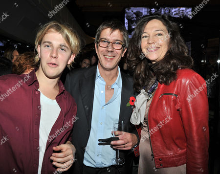 the Power 1000 2012 - Evening Standard's 1000 Most Influential People at Burberry Flagship Store Regent Street Tom Odell (l) with Jennifer Hall and Her Husband Glenn Wilhide