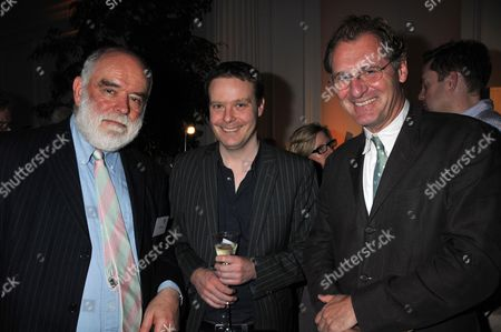 Stock Photo of Man Booker Shortlist Party at the Orangery Kensington Palace Ion Trewin Tom Mccarthy and the Chair of Judges Sir Andrew Motion
