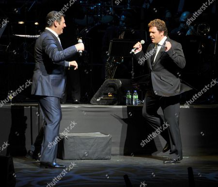 Michael Ball and Friends Concert in Aid of the Shooting Star Children's Hospice at the Prince of Wales Theatre Coventry Street London Michael Ball & Tony Hadley