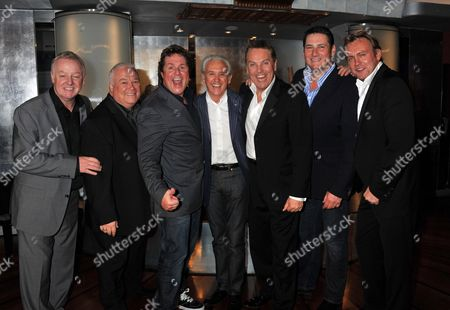 Michael Ball and Friends Concert in Aid of the Shooting Star Children's Hospice at the Prince of Wales Theatre Coventry Street London Les Dennis Michael Starke Michael Ball Tony Christie Brian Conley Tony Hadley & Philip Glenister