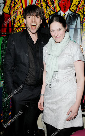 Mydaily Co Uk Website Launch Party at House of St Barnabus Soho Alex James with His Wife Claire Neate