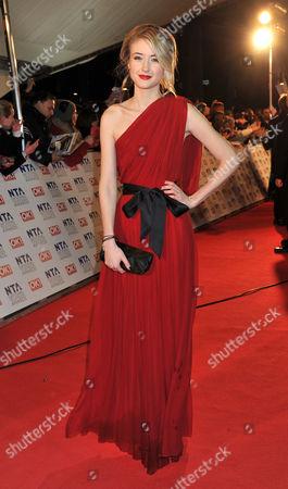 National Television Awards Arrivals at the 02 Arena Greenwich Ashley Slanina-davies