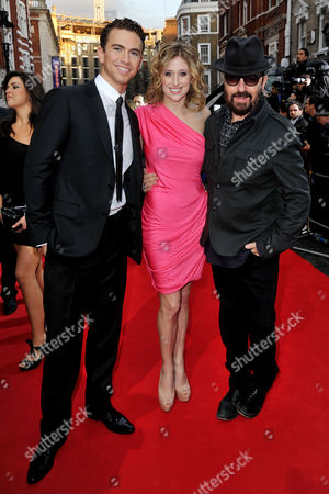 Stock Picture of Olivier Theatre Awards 2011 Arrivals at the Theatre Royal Drury Lane Richard Fleeshman Cassie Levy and Dave Stewart