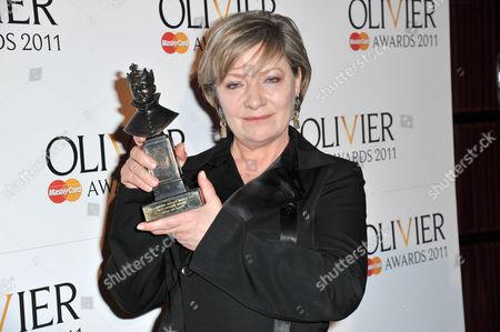 Olivier Theatre Awards Press Room at the Theatre Royal Drury Lane Hildegard Bechtler (best Costume Design For 'After the Dance'