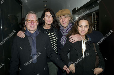 Opening of Chucs Dive and Mountain Shop and Party at Automat Dover Street James Dearden and Annabel Brooks with Bob Geldof and Jeanne Marine