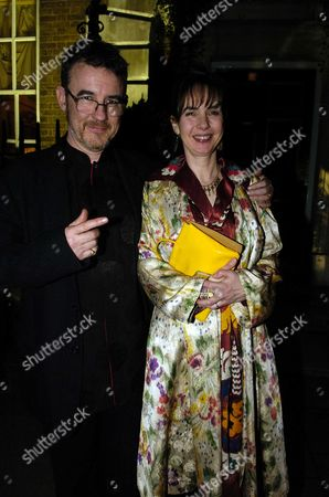 Charles Sturridge with His Wife Phoebe Nicholls