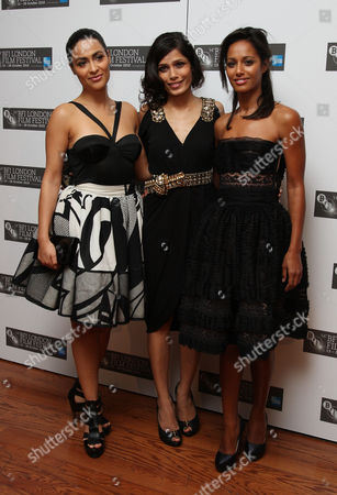 Premiere of 'Miral' During the London Film Festival at the Vue Leicester Square Yasmine Elmasri Frieda Pinto and Rula Jebreal