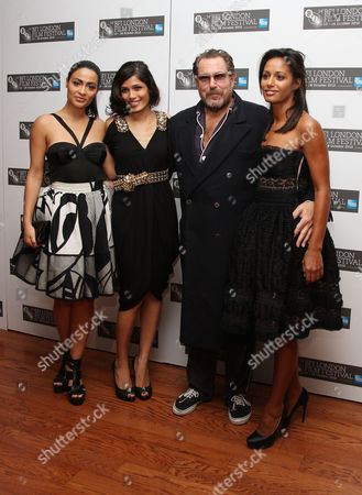 Premiere of 'Miral' During the London Film Festival at the Vue Leicester Square Screenwriter Rula Jebreal and Actress Frieda Pinto Director Julian Schnabel and Yasmine Elmasri