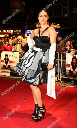 Editorial image of Premiere of 'Miral' During the London Film Festival at the Vue Leicester Square - 18 Oct 2010