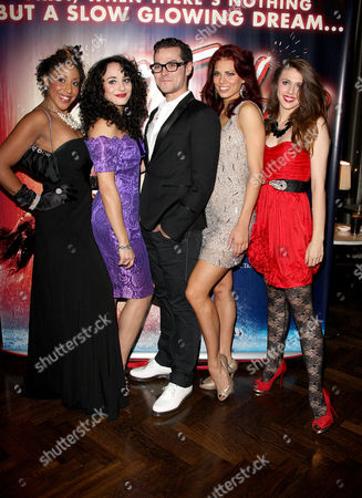 Press Night Afterparty For 'Flashdance' at the Waldorf Hotel Aldwych Cast - Hannah Levane Victoria Hamilton-barritt Matt Willis Twinnie Lee Moore and Charlotte Harwood