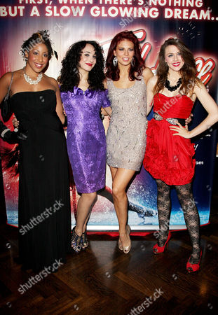 Press Night Afterparty For 'Flashdance' at the Waldorf Hotel Aldwych Cast - Hannah Levane Victoria Hamilton-barritt Twinnie Lee Moore and Charlotte Harwood